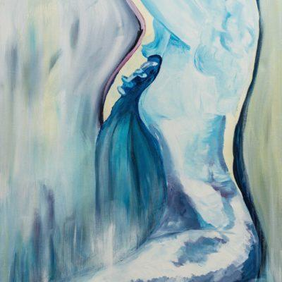 """""""Blanket"""", Acryl auf LW, 80 cm x 100 cm, verkauft, (verfügbar als Fine Art Print auf Anfrage)"""