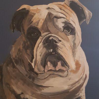 Auftrag Tierporträt, Acryl auf Malplatte